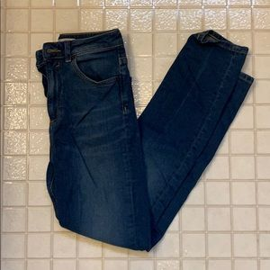 ASOS High Waisted Skinny Blue Denim Jeans